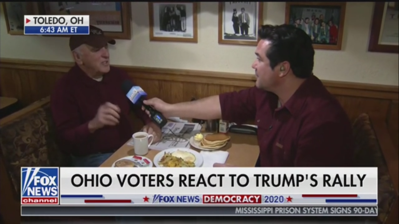 Fox News Diner Patron: 'The Economy Has Raised the Boats of the Wealthy'