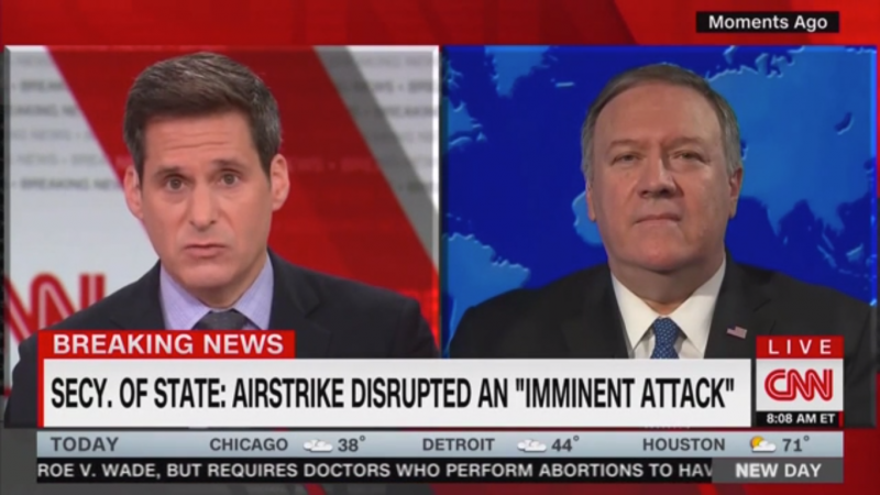 Pompeo Says Americans Are 'Safer' As US Embassy Urges Evacuation of Iraq