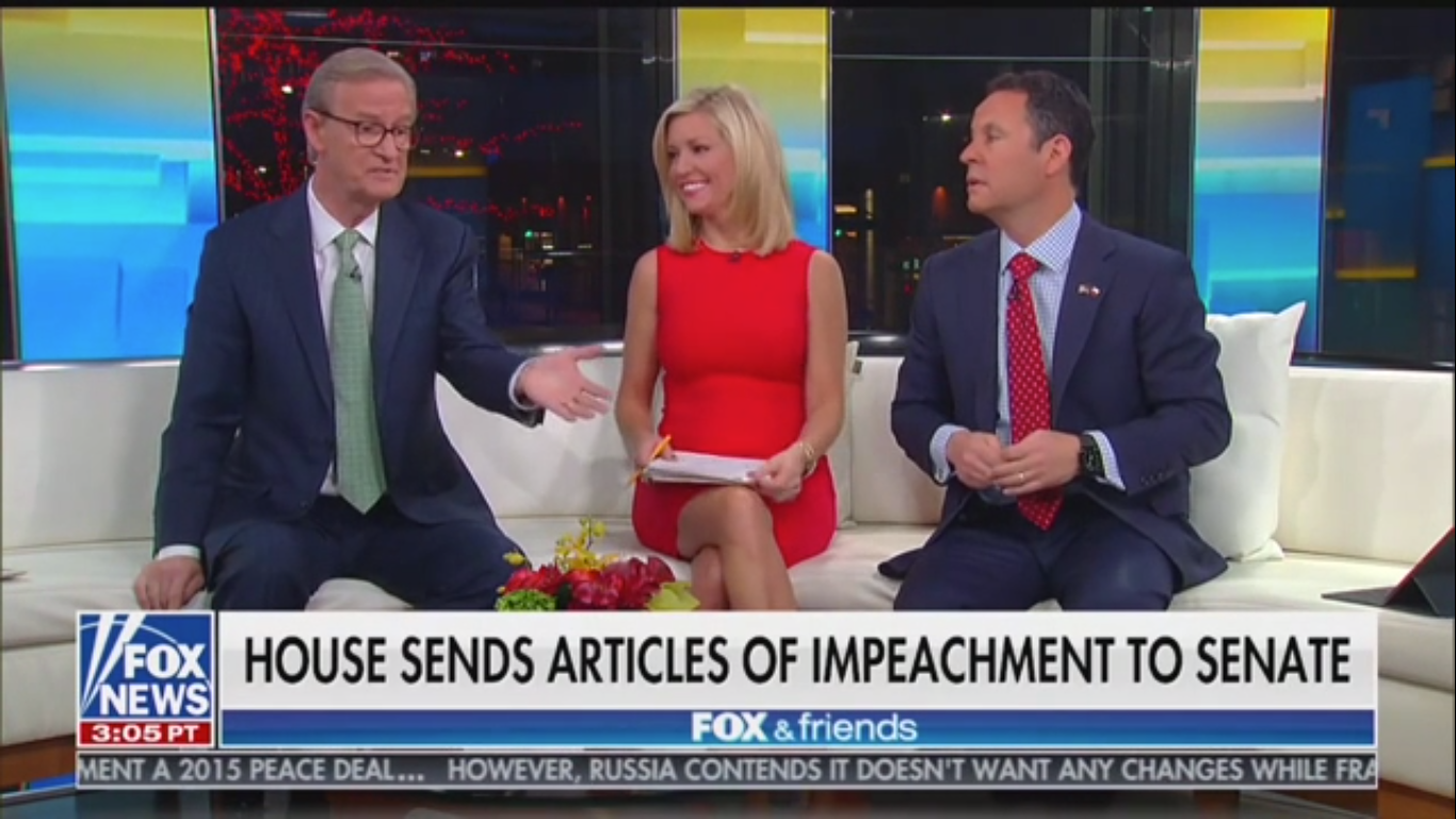 Fox's Steve Doocy: Trump Could Use State of the Union to 'Be His Own Witness' on Impeachment