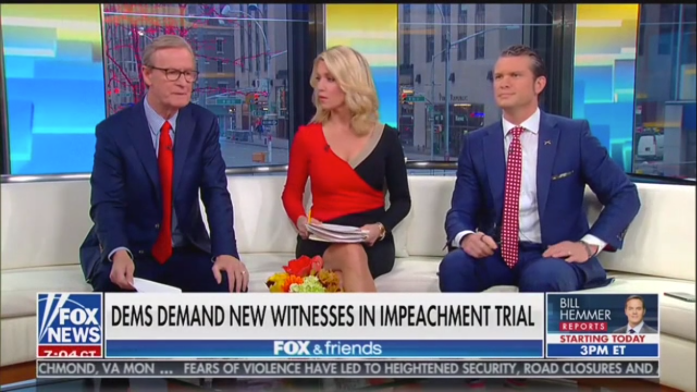 Fox's Ainsley Earhardt on Impeachment Witnesses: 'Not the Senate's Job to Redo' House Investigation