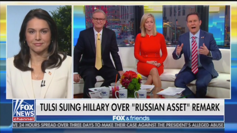 Tulsi Gabbard Repeatedly Refuses to Explain How Hillary Clinton's 'Defamation' Cost Her $50 Million