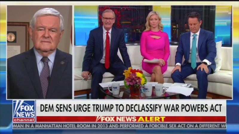 Newt Gingrich: 'The Iranian Dictatorship Has Been at War With Us Since 1979'