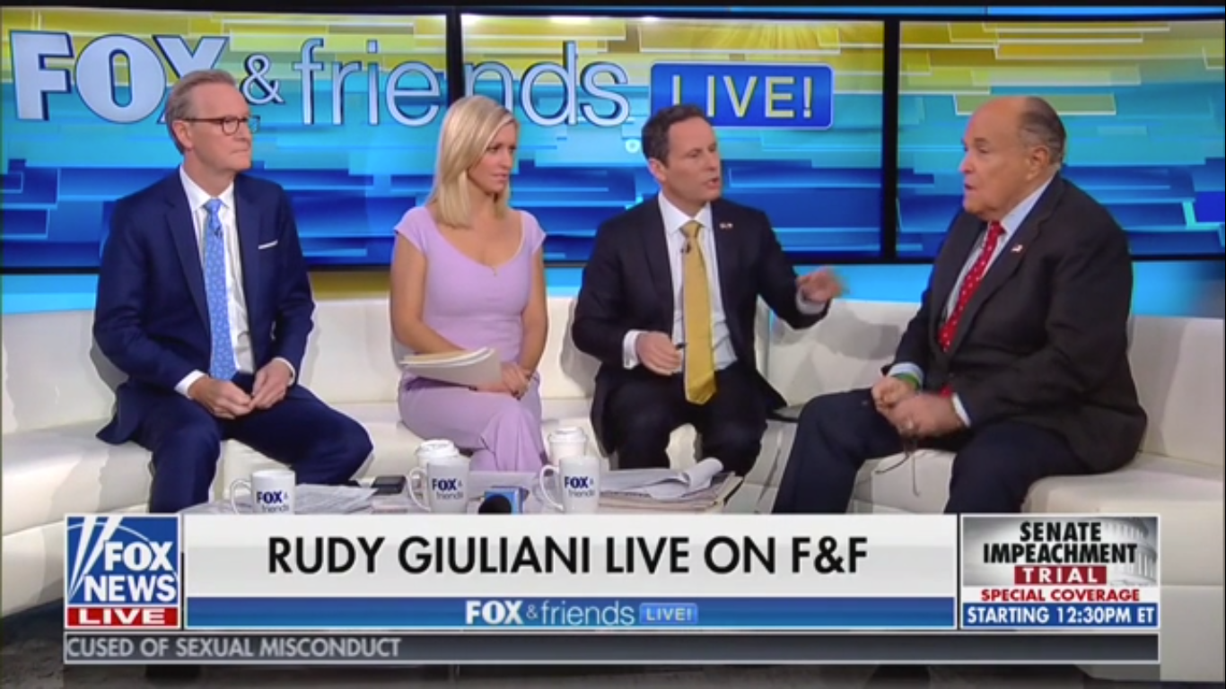 Rudy Giuliani: Witnesses Will Say FBI and Justice Dept. Were 'Being Controlled by Hillary Clinton Partisans'