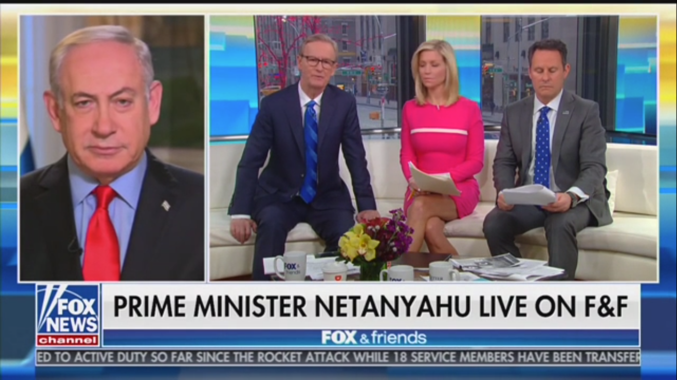 Israeli Prime Minister Praises Trump on 'Fox & Friends': 'Best Friend That Israel Has Ever Had'