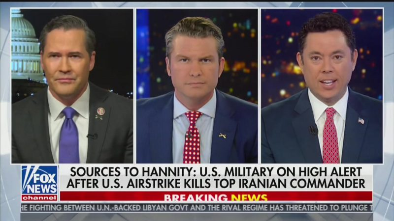 Fox News Cheerleaders Praise Trump's 'Peace Through Strength' Following Strike on Iran Commander