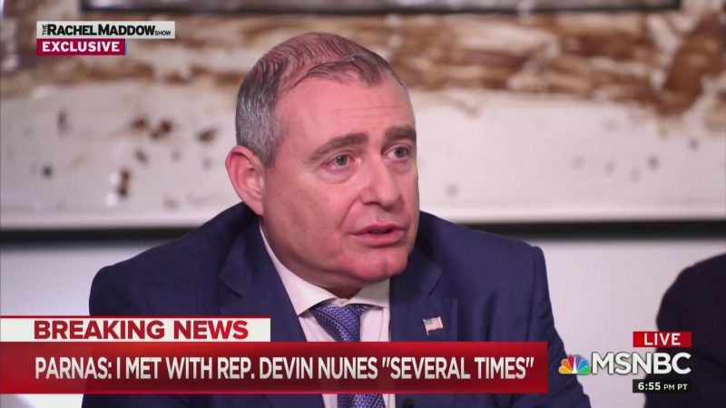 Lev Parnas Implicates Nunes in Maddow Interview: 'He Knows Who I Am,' We Met 'Several Times'