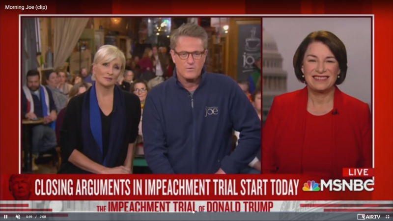Amy Klobuchar: 'I Am Sickened By What My Republican Colleagues Have Been Saying'
