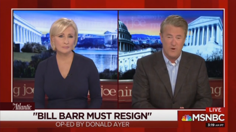 Joe Scarborough: Bill Barr 'Started a Search and Destroy Mission' Against Trump's Political Opponents