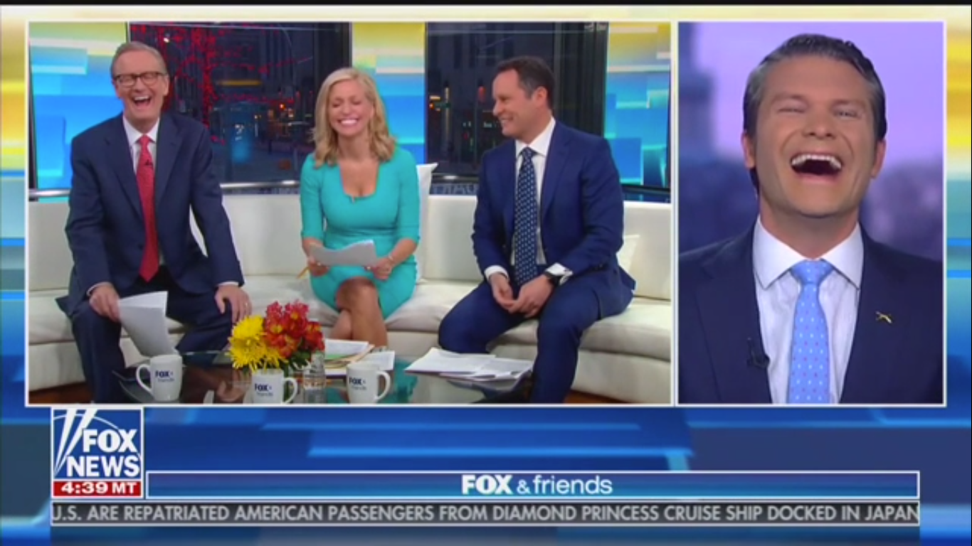 Fox's Pete Hegseth: Democrats Are 'Rooting for a Coronavirus to Spread' to 'Drag Down' Trump