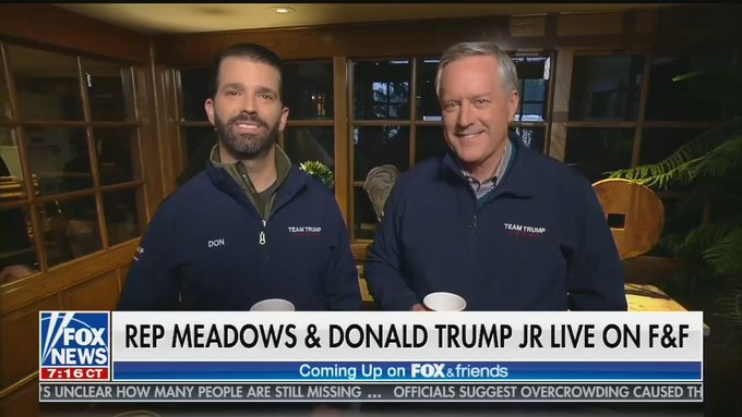 Donald Trump Jr., Lindsey Graham and Mark Meadows Wear Matching Trump Outfits on Fox News