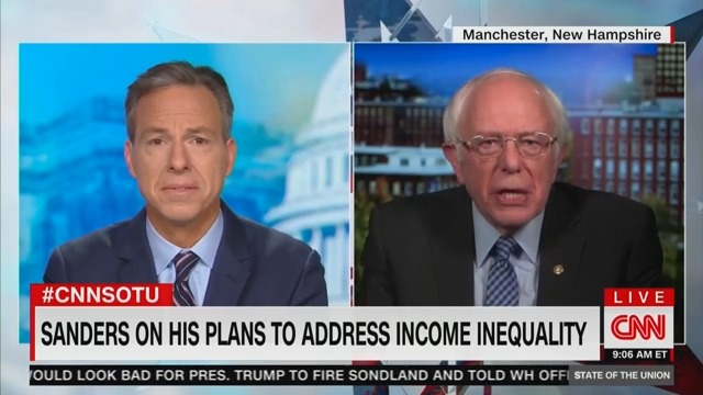 Bernie Chastises Tapper for Asking About Comments He Made in 1974: You Want My '3rd Grade Essay' Too?!