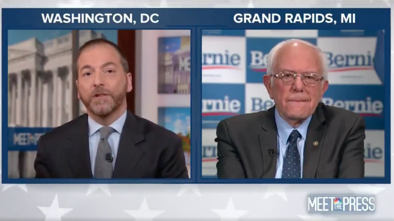 Sanders Points Finger at 'The Establishment' for Super Tuesday Losses