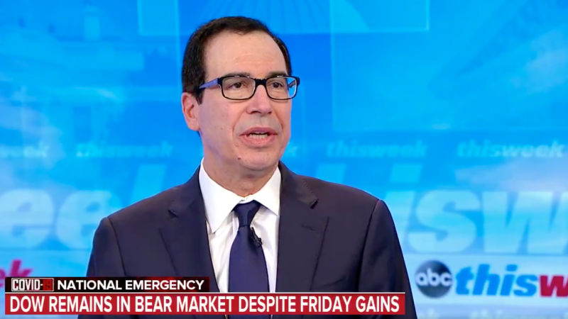 Without Evidence, Mnuchin Insists that 'People Misinterpreted' Trump's Cargo Comment