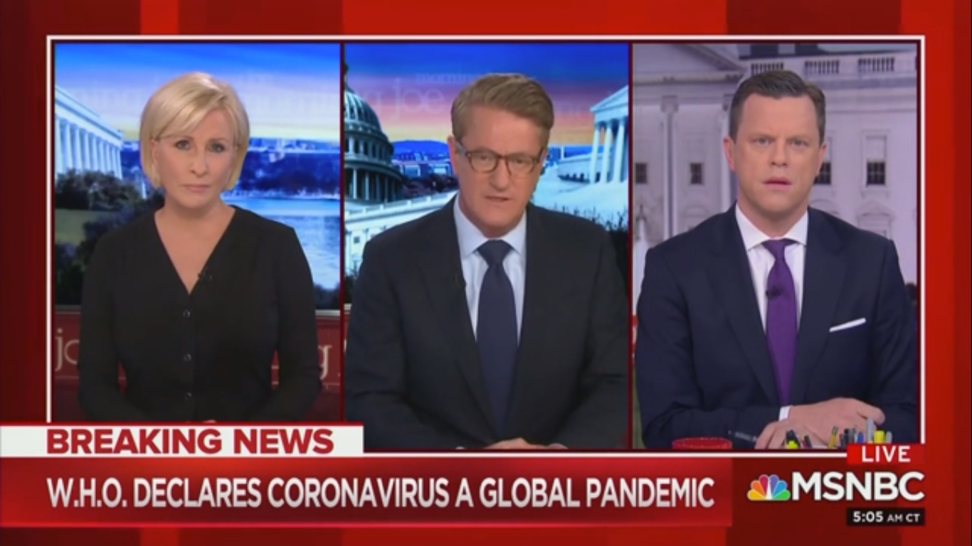 Joe Scarborough Hopes Trump's Coronavirus Address 'Pours Cold Water' on Conspiracy Theories