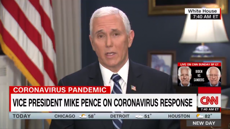 Mike Pence Struggles as CNN's Alisyn Camerota Puts Him Through Coronavirus Grilling