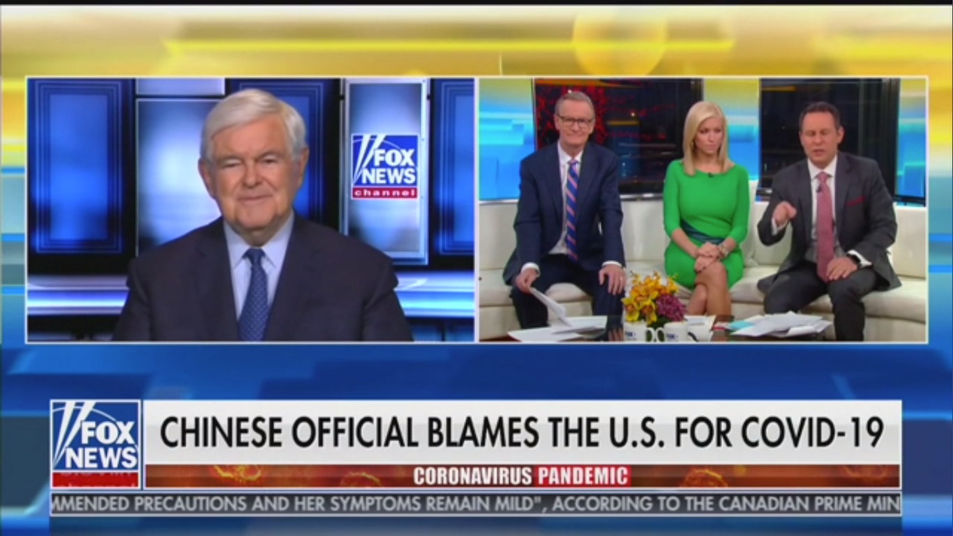 Fox's Brian Kilmeade Warns Against Trade with China: You Get 'the Wuhan Virus That Poisoned the World'