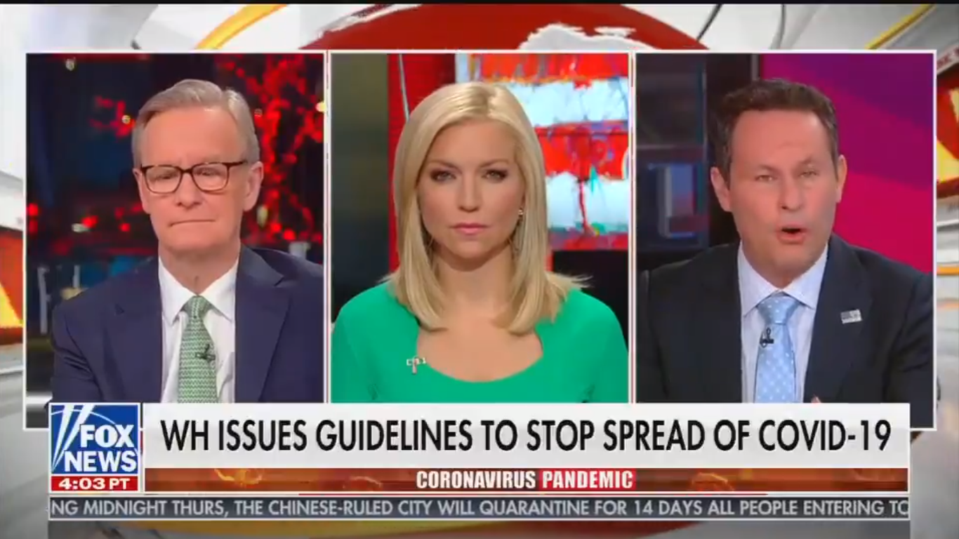 Fox's Brian Kilmeade Calls for Federal Shutdown of Public Gatherings as Trump Dismisses Idea