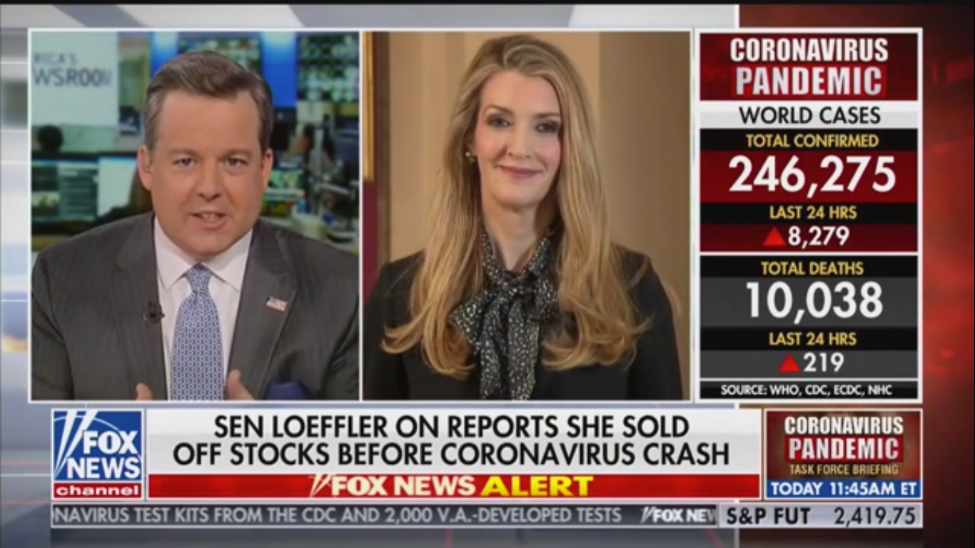 Senator Kelly Loeffler Denies Wrongdoing as Fox Anchor Grills Her on Dumping Stocks Before Market Crash