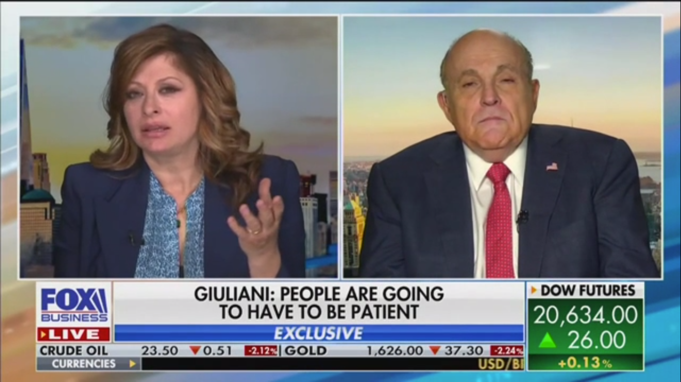 Rudy Giuliani Praises Trump and Cuomo for 'Superb and Bipartisan' Leadership