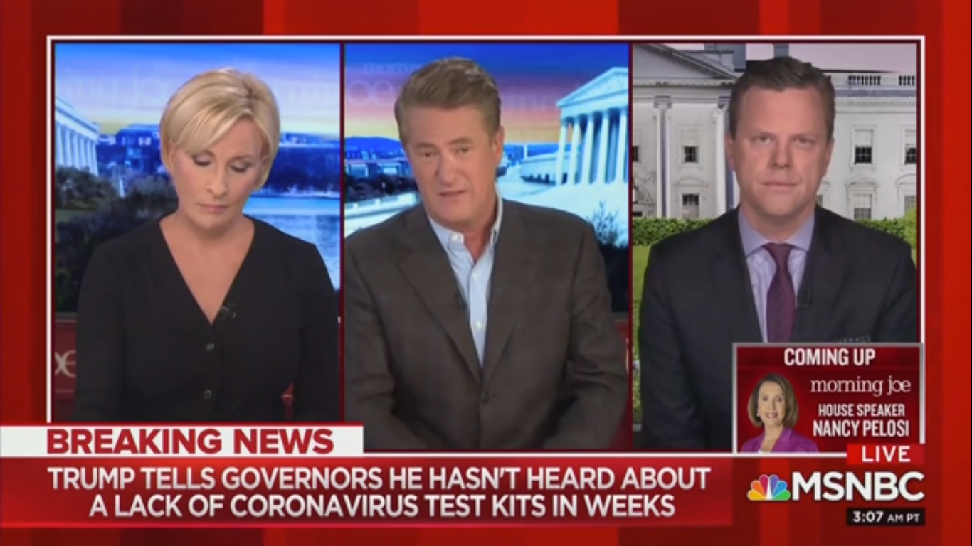 Joe Scarborough: Trump Lying About Coronavirus Testing Is Like Saying 'Everything's Going Perfect' After Pearl Harbor