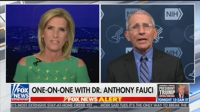 Laura Ingraham Goads Fauci: Would You Take Hydroxychloroquine if Sick?