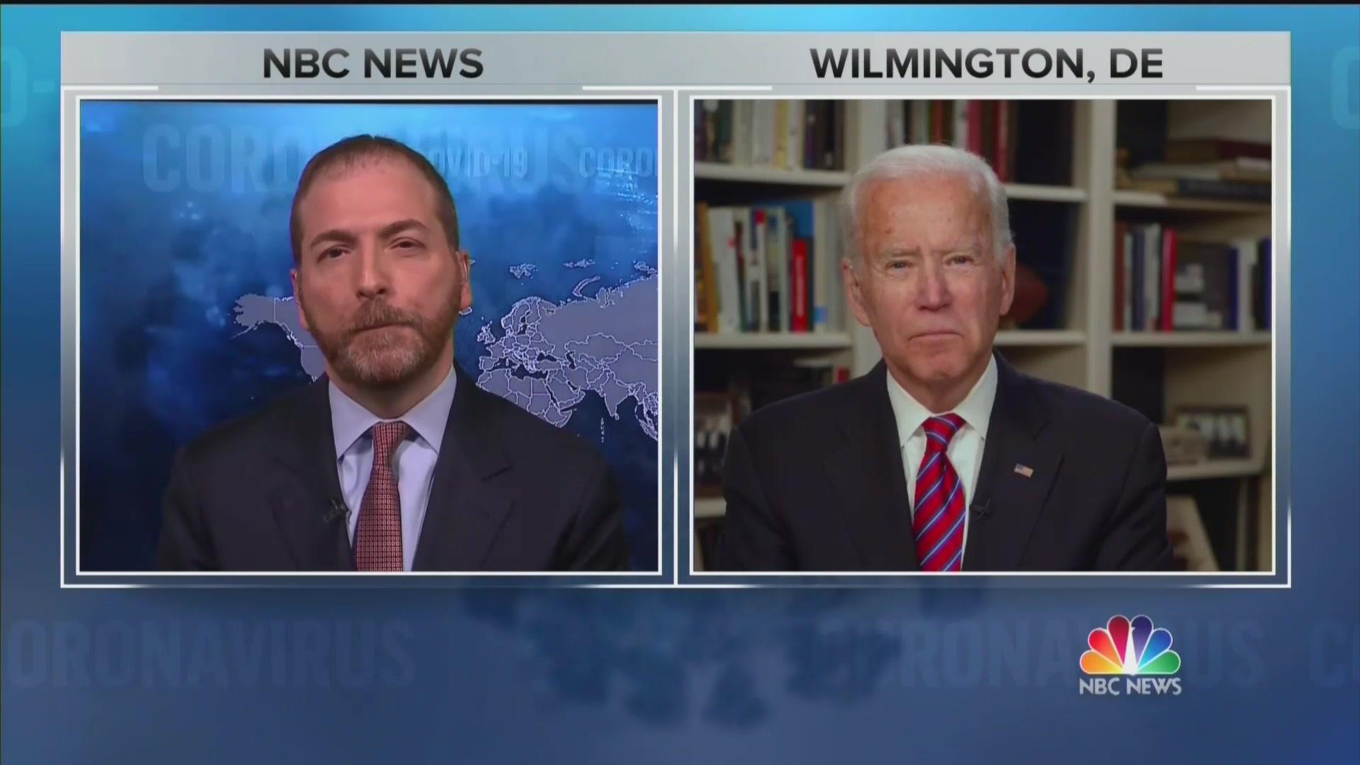 Chuck Todd Asks Biden If He Believes Trump Has 'Blood' on His Hands Over His Slow Coronavirus Response