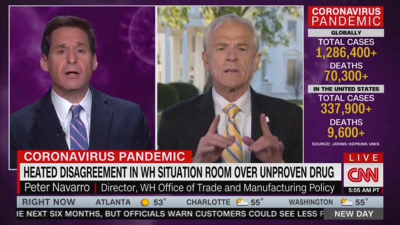 CNN's John Berman Clashes with Peter Navarro on Coronavirus: What Are Your Qualifications?