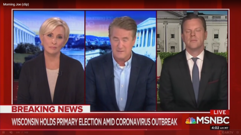 Joe Scarborough Slams Wisconsin Election: 'Most Extraordinarily Reckless Thing I've Seen in My Political Life'