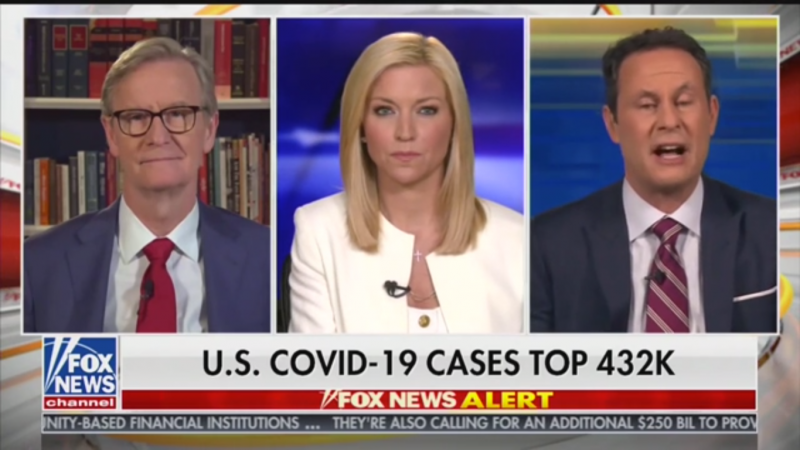 Fox's Steve Doocy Tries to Impress upon Brian Kilmeade That 60,000 Deaths Would Be 'Staggering'