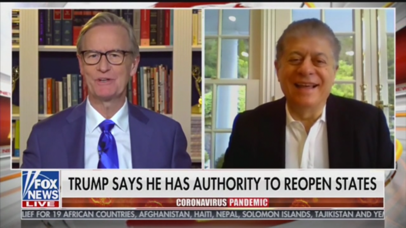 Fox's Judge Nap: It's up to Governors to Reopen States, Not Trump
