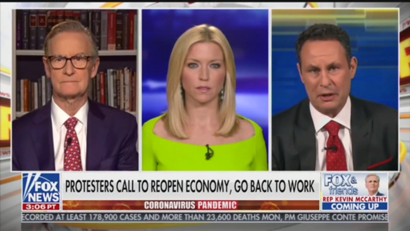 Fox's Brian Kilmeade Wants Business to Reopen: 'Start Treating the American People Like Adults'