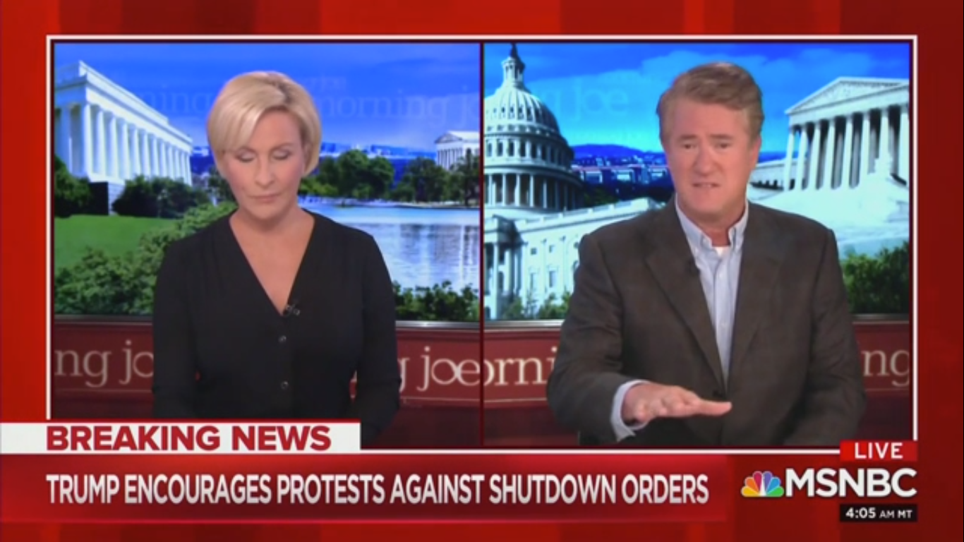 Joe Scarborough: 'Trump Is Doing Just Like the Communist Chinese Are Doing' in Shifting Blame