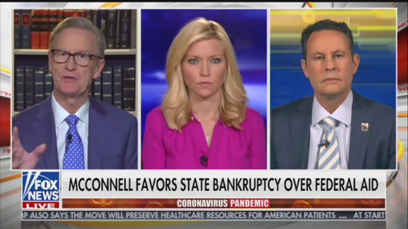 Fox's Steve Doocy Suggests Letting Some States Go Bankrupt So They Can Cut Pensions