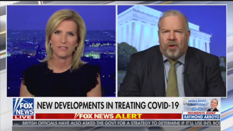 Laura Ingraham Attacks Promising Coronavirus Treatment after Hyping Unproven Malaria Drug