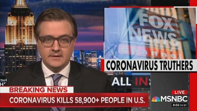 MSNBC's Chris Hayes Blasts Tucker Carlson and Fox News for Pushing 'Coronavirus Trutherism'