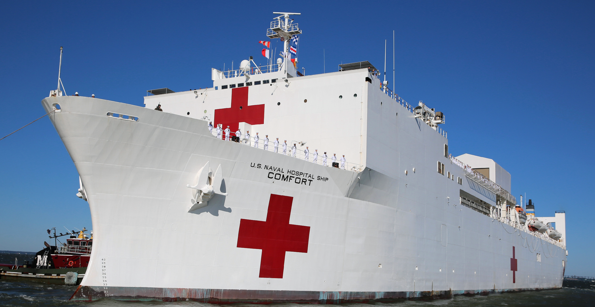 Navy Hospital Ship in New York Only Has 20 Patients But 1,000 Bed Capacity