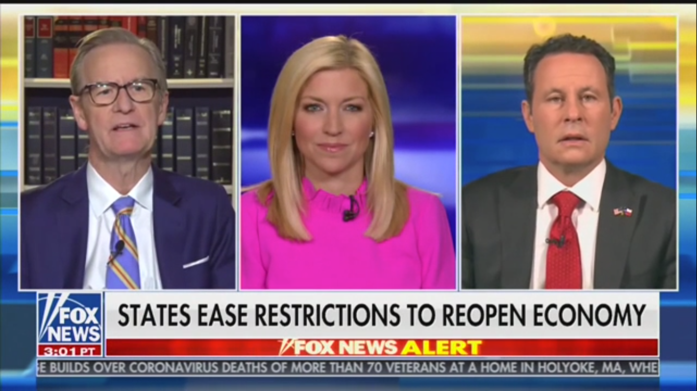 Fox's Brian Kilmeade Says There Are Now Enough Masks for Everyone Despite Ongoing Mask Shortage