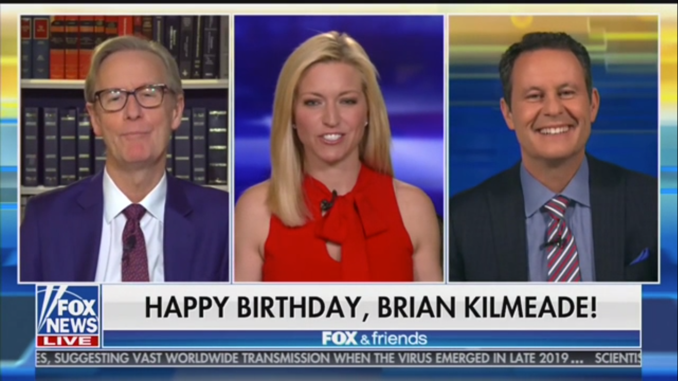 Fox's Brian Kilmeade Uses His Birthday to Mock Social Distancing Measures