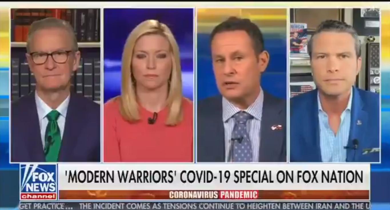 Fox's Brian Kilmeade: Americans Need 'The Military Mindset' to Defeat 'Enemy' of Coronavirus