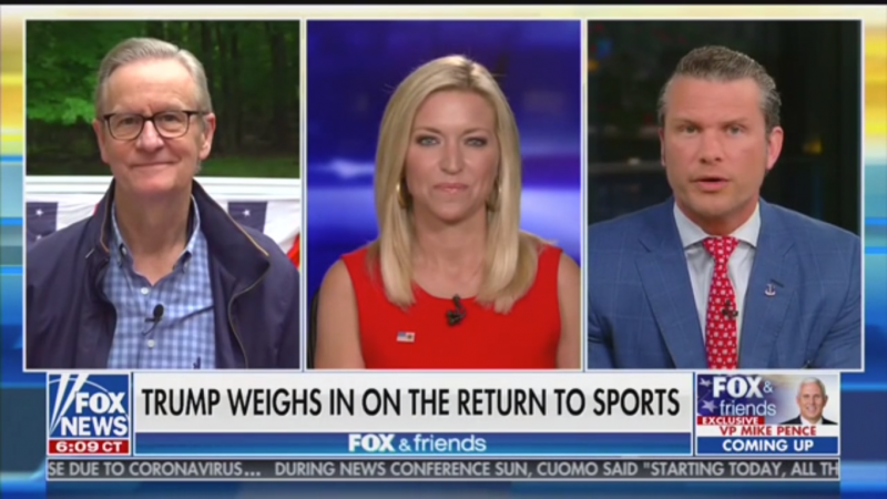 'Fox & Friends' Suggests Trump Is 'Leading the Way' from the Golf Course