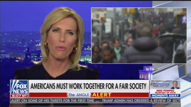 Laura Ingraham to Minneapolis Protesters: Trump Understands Police Violence Because of Russia Investigation