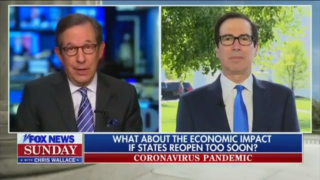 Chris Wallace Asks Mnuchin If His Predictions are 'Based on Economic Reality or the November Election'