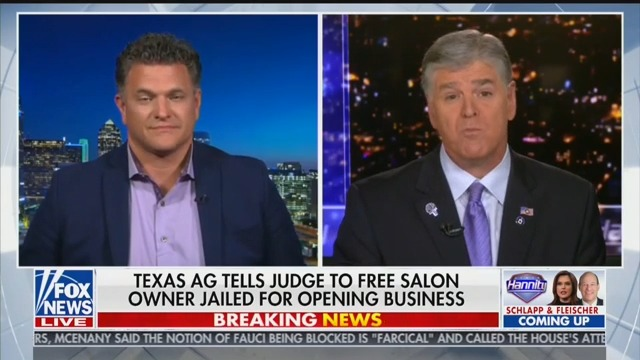 Sean Hannity Compares Jailed Texas Salon Owner to William Wallace in 'Braveheart'