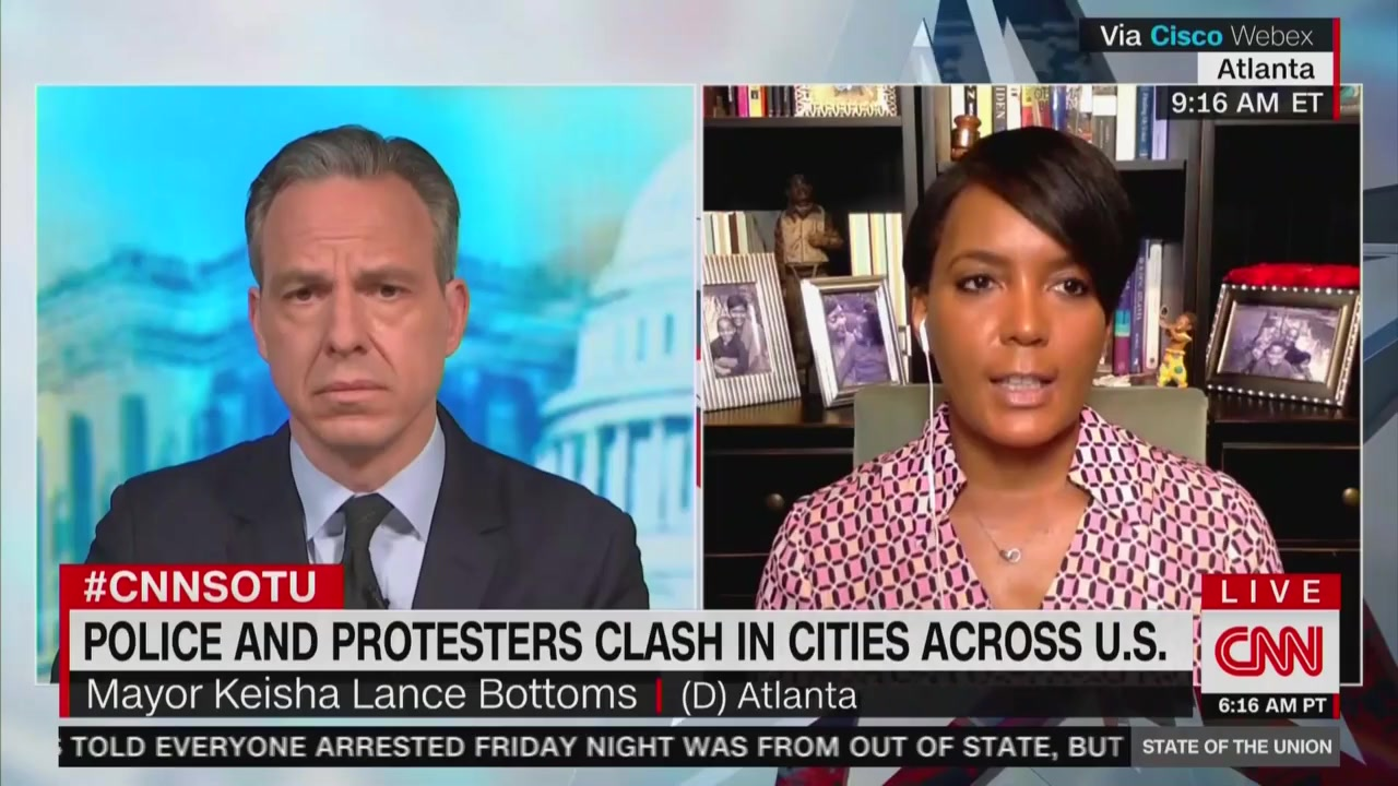 Atlanta Mayor Blasts Trump's Protest Comments: 'He Speaks and He Makes It Worse'