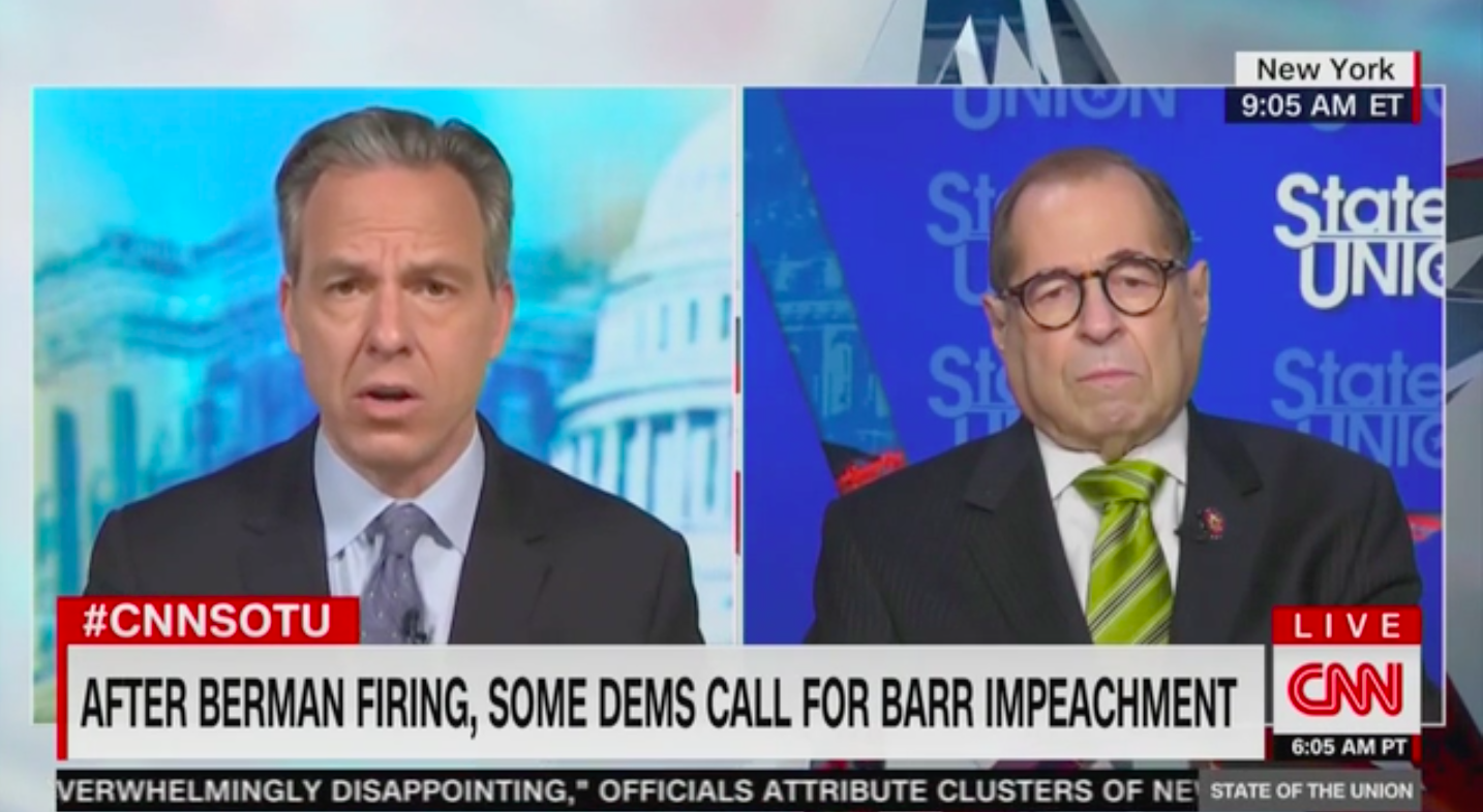 Nadler: Impeaching Barr Would Be a 'Waste of Time' Because Republican Senators Are 'Corrupt'