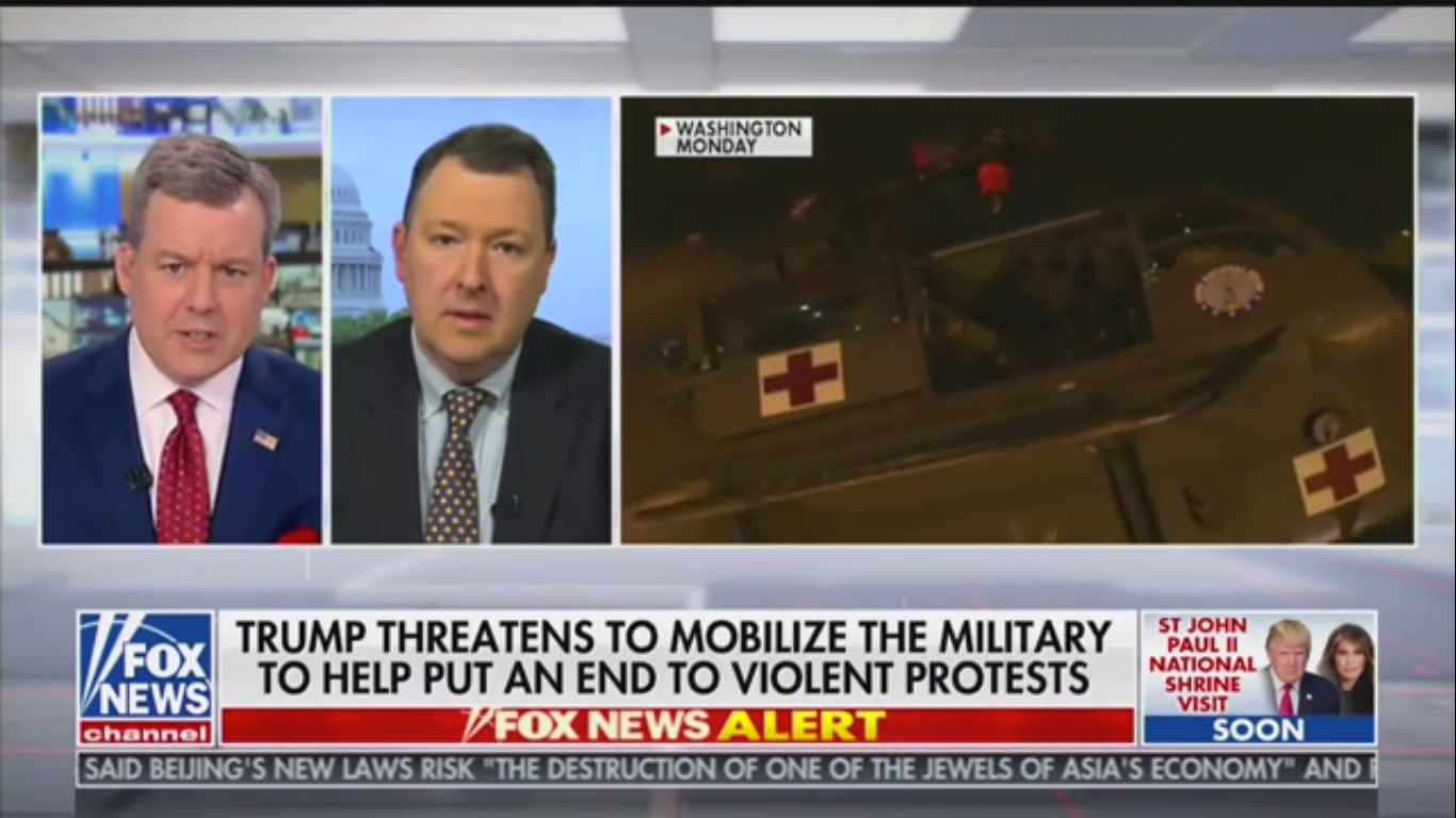 Fox News Contributor Marc Thiessen: 'If They Were Peaceful Protesters, There Would Be No Need to Use Teargas'