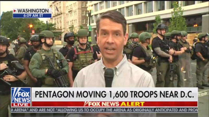 Fox's Griff Jenkins Falsely Claims 'Tear Gas Was Not Used' on D.C. Protesters