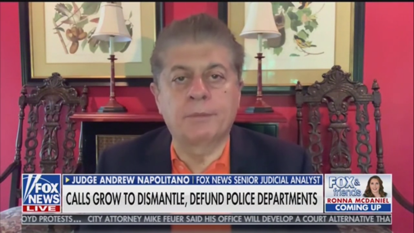 Judge Andrew Napolitano: States Have a 'Constitutional Obligation' to Take Over Cities That Dismantle Police Forces