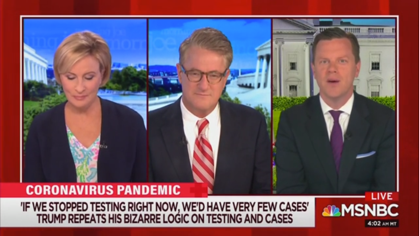 Joe Scarborough Mocks Trump: 'Testing for the Coronavirus Doesn't Actually Kill People'