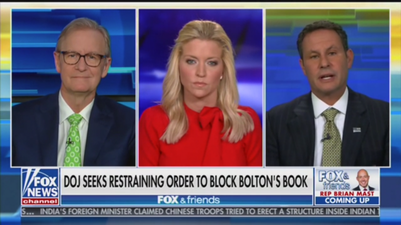 Fox's Brian Kilmeade: Bolton's Book 'Hurts the Country' Because It Might Help Get Biden Elected
